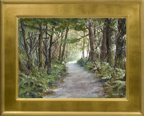 Original Oil Painting The Path by Robert Todd